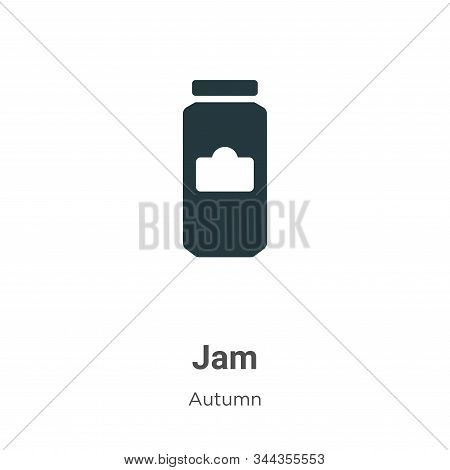 Jam icon isolated on white background from autumn collection. Jam icon trendy and modern Jam symbol