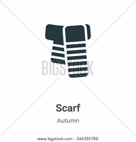 Scarf Vector Icon On White Background. Flat Vector Scarf Icon Symbol Sign From Modern Autumn Collect
