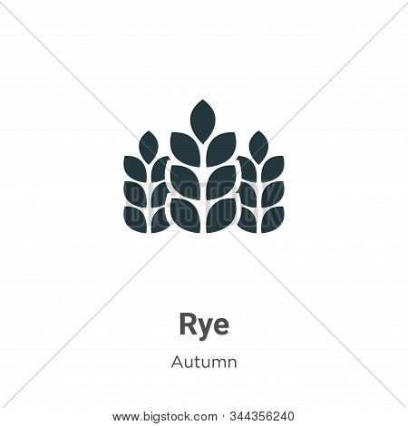 Rye Vector Icon On White Background. Flat Vector Rye Icon Symbol Sign From Modern Autumn Collection