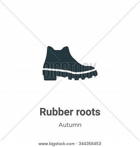 Rubber roots icon isolated on white background from autumn collection. Rubber roots icon trendy and