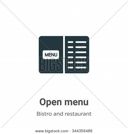 Open menu icon isolated on white background from bistro and restaurant collection. Open menu icon tr