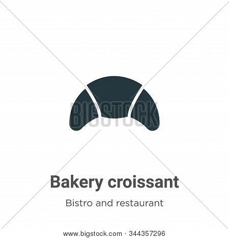 Bakery croissant icon isolated on white background from bistro and restaurant collection. Bakery cro