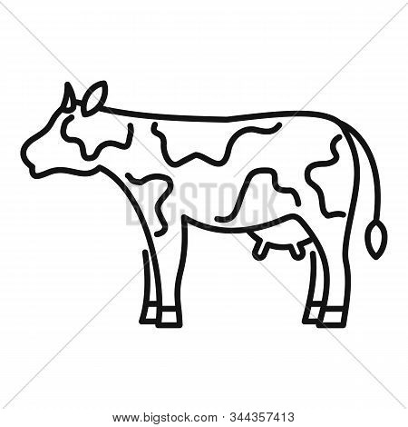 Diary Cow Icon. Outline Diary Cow Vector Icon For Web Design Isolated On White Background