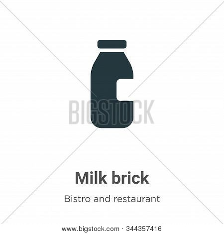 Milk brick icon isolated on white background from bistro and restaurant collection. Milk brick icon