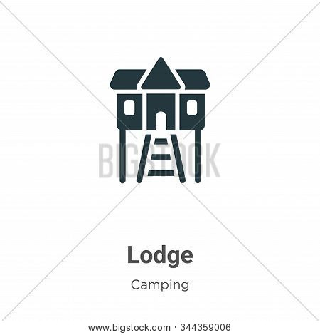 Lodge icon isolated on white background from camping collection. Lodge icon trendy and modern Lodge