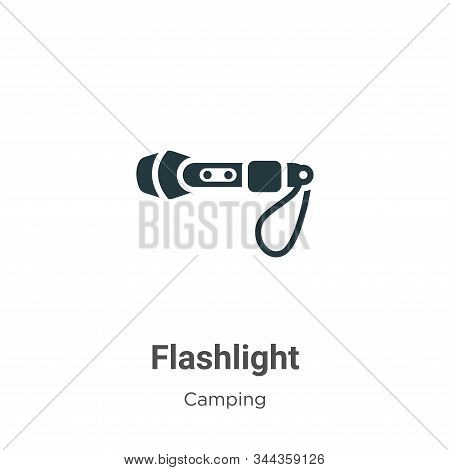 Flashlight icon isolated on white background from camping collection. Flashlight icon trendy and mod