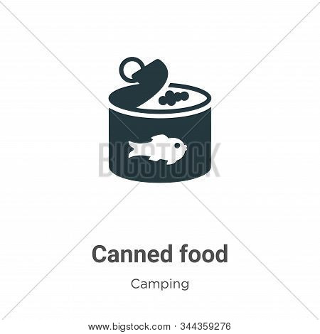 Canned food icon isolated on white background from camping collection. Canned food icon trendy and m