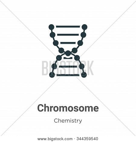 Chromosome icon isolated on white background from chemistry collection. Chromosome icon trendy and m