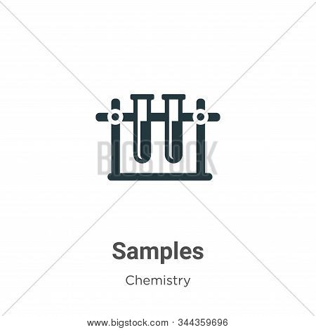 Samples icon isolated on white background from chemistry collection. Samples icon trendy and modern