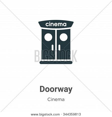 Doorway Vector Icon On White Background. Flat Vector Doorway Icon Symbol Sign From Modern Cinema Col