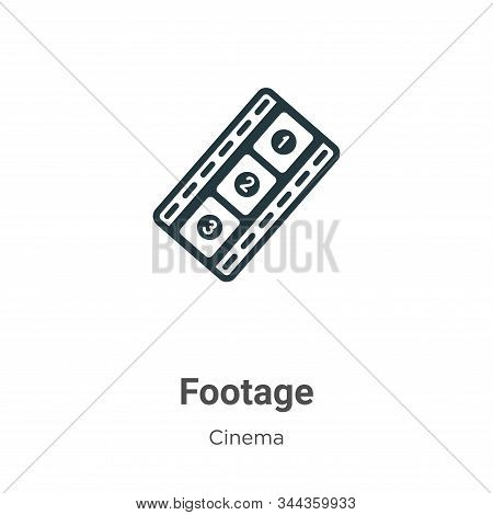 Footage Vector Icon On White Background. Flat Vector Footage Icon Symbol Sign From Modern Cinema Col