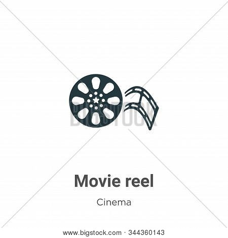 Movie reel icon isolated on white background from cinema collection. Movie reel icon trendy and mode