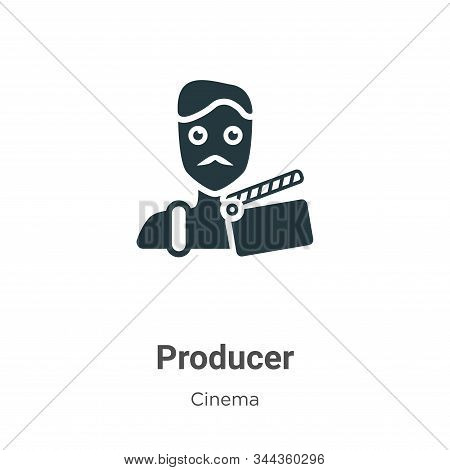 Producer icon isolated on white background from cinema collection. Producer icon trendy and modern P