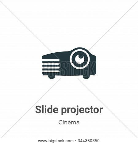 Slide projector icon isolated on white background from cinema collection. Slide projector icon trend