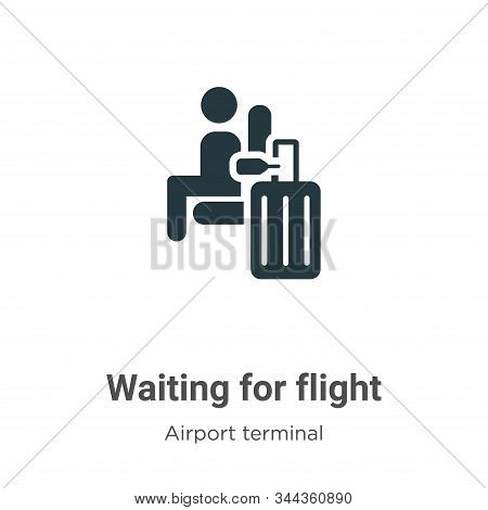 Waiting for flight icon isolated on white background from airport terminal collection. Waiting for f