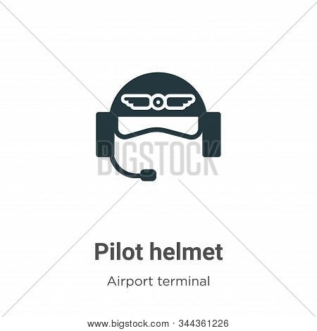 Pilot helmet icon isolated on white background from airport terminal collection. Pilot helmet icon t