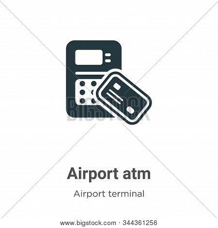 Airport atm icon isolated on white background from airport terminal collection. Airport atm icon tre