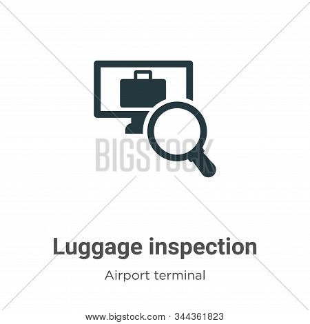 Luggage inspection icon isolated on white background from airport terminal collection. Luggage inspe