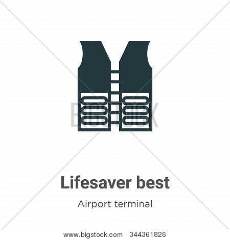 Lifesaver best icon isolated on white background from airport terminal collection. Lifesaver best ic