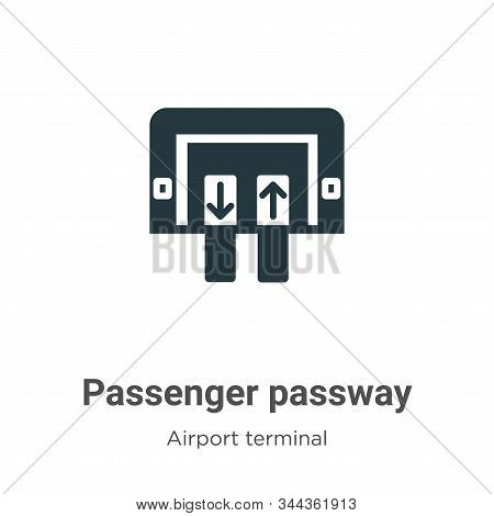 Passenger passway icon isolated on white background from airport terminal collection. Passenger pass