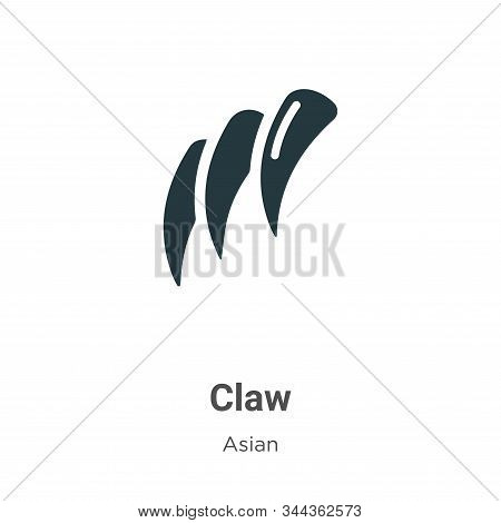 Claw Vector Icon On White Background. Flat Vector Claw Icon Symbol Sign From Modern Asian Collection