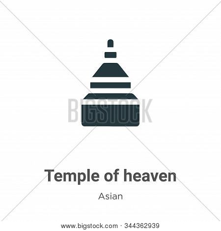 Temple Of Heaven Vector Icon On White Background. Flat Vector Temple Of Heaven Icon Symbol Sign From