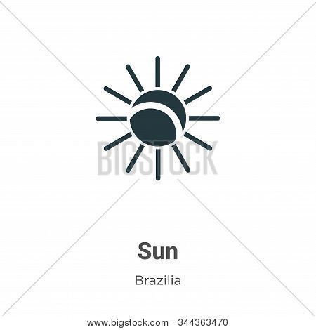 Sun icon isolated on white background from brazilia collection. Sun icon trendy and modern Sun symbo