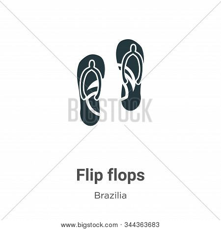 Flip flops icon isolated on white background from brazilia collection. Flip flops icon trendy and mo