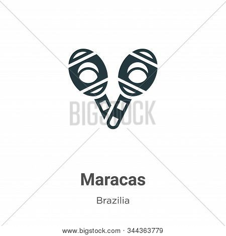 Maracas icon isolated on white background from brazilia collection. Maracas icon trendy and modern M