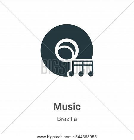 Music icon isolated on white background from brazilia collection. Music icon trendy and modern Music