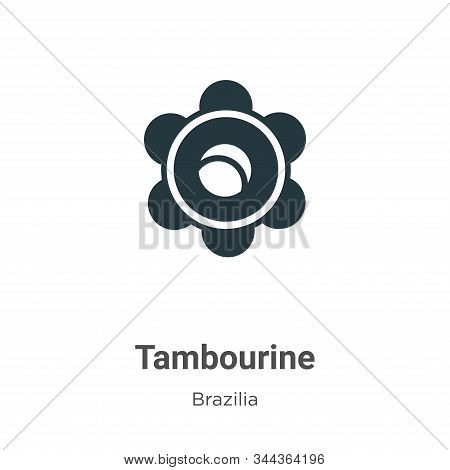 Tambourine icon isolated on white background from brazilia collection. Tambourine icon trendy and mo