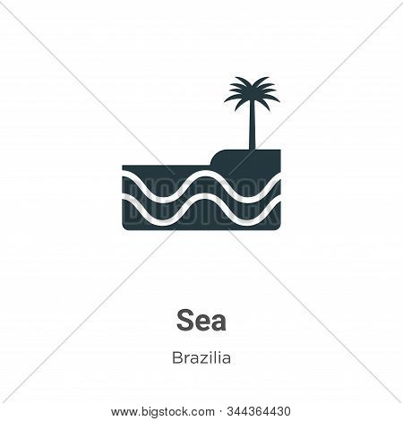 Sea icon isolated on white background from brazilia collection. Sea icon trendy and modern Sea symbo