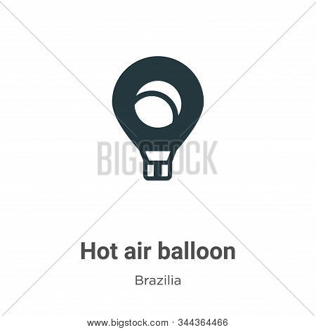 Hot air balloon icon isolated on white background from brazilia collection. Hot air balloon icon tre