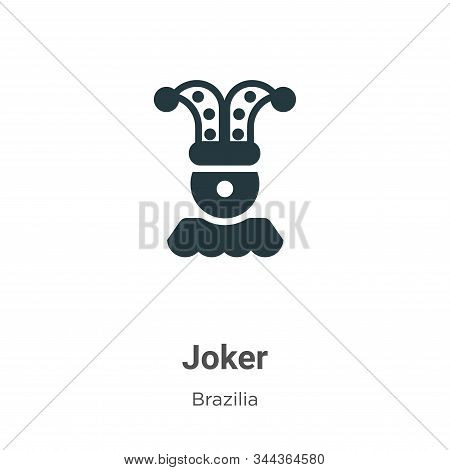Joker icon isolated on white background from brazilia collection. Joker icon trendy and modern Joker