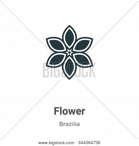 Flower icon isolated on white background from brazilia collection. Flower icon trendy and modern Flo