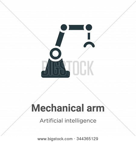 Mechanical Arm Vector Icon On White Background. Flat Vector Mechanical Arm Icon Symbol Sign From Mod