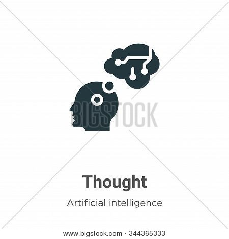 Thought icon isolated on white background from artificial intelligence collection. Thought icon tren