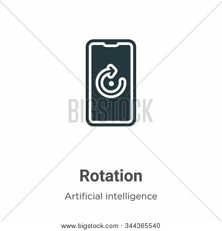 Rotation icon isolated on white background from augmented reality collection. Rotation icon trendy a