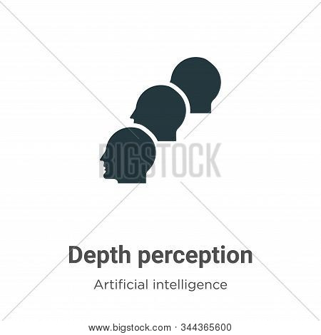 Depth perception icon isolated on white background from augmented reality collection. Depth percepti