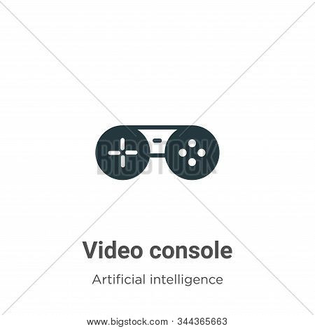 Video console icon isolated on white background from augmented reality collection. Video console ico