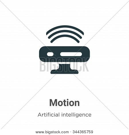 Motion icon isolated on white background from augmented reality collection. Motion icon trendy and m