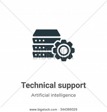 Technical support icon isolated on white background from big data collection. Technical support icon