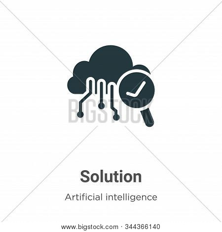 Solution icon isolated on white background from big data collection. Solution icon trendy and modern