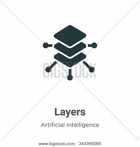 Layers icon isolated on white background from big data collection. Layers icon trendy and modern Lay