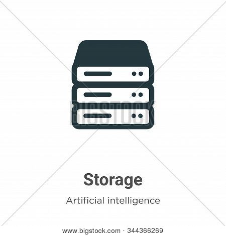 Storage icon isolated on white background from big data collection. Storage icon trendy and modern S