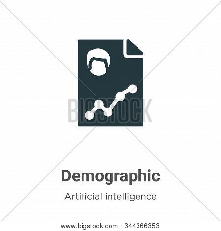 Demographic icon isolated on white background from big data collection. Demographic icon trendy and
