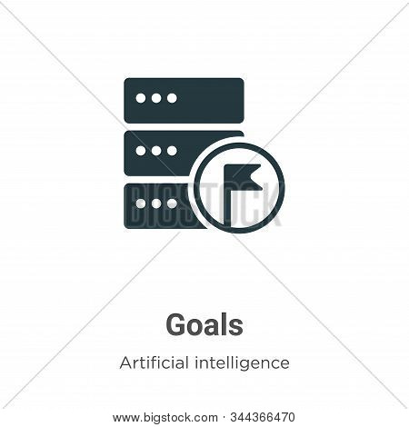 Goals icon isolated on white background from big data collection. Goals icon trendy and modern Goals