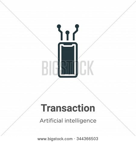 Transaction icon isolated on white background from big data collection. Transaction icon trendy and