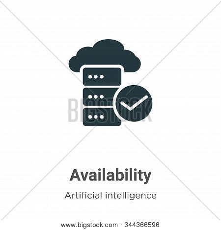 Availability icon isolated on white background from big data collection. Availability icon trendy an