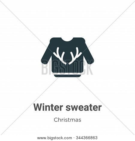 Winter Sweater Vector Icon On White Background. Flat Vector Winter Sweater Icon Symbol Sign From Mod